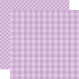 Dots & Stripes Gingham: Huckleberry 12x12 Patterned Paper