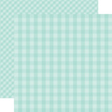 Dots & Stripes Gingham: Blueberry 12x12 Patterned Paper
