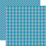 Dots & Stripes Gingham: Splash 12x12 Patterned Paper