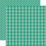 Dots & Stripes Gingham: Sea Turtle 12x12 Patterned Paper