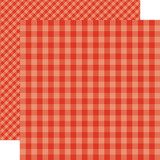 Dots & Stripes Gingham: Lifeguard 12x12 Patterned Paper