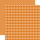 Dots & Stripes Gingham: Orange 12x12 Patterned Paper