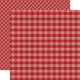 Dots & Stripes Gingham: Red 12x12 Patterned Paper