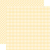 Dots & Stripes Gingham: Cream 12x12 Patterned Paper