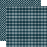 Dots & Stripes Gingham: Navy 12x12 Patterned Paper