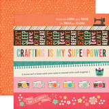 I'd Rather Be Crafting: Border Strips 12x12 Patterned Paper