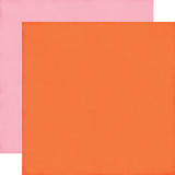 I'd Rather Be Crafting: Orange/Pink 12x12 Solid Paper