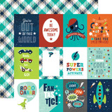 Imagine That Boy: 3x4 Journaling Cards 12x12 Patterned Paper
