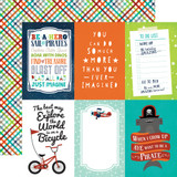 Imagine That Boy: 4x6 Journaling Cards 12x12 Patterned Paper