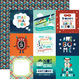 Imagine That Boy: 4x4 Journaling Cards 12x12 Patterned Paper