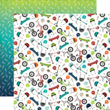 Imagine That Boy: Pop a Wheelie 12x12 Patterned Paper