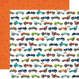 Imagine That Boy: Car Race 12x12 Patterned Paper