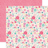 Imagine That Girl: Fancy Floral 12x12 Patterned Paper