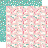 Imagine That Girl: Unicorn Party 12x12 Patterned Paper