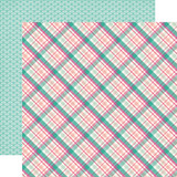 Imagine That Girl: Princess Plaid 12x12 Patterned Paper