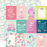 Imagine That Girl: 3x4 Journaling Cards 12x12 Patterned Paper
