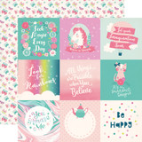 Imagine That Girl: 4x4 Journaling Cards 12x12 Patterned Paper