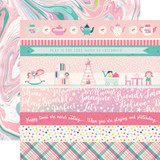 Imagine That Girl: Border Strips 12x12 Patterned Paper