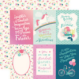 Imagine That Girl: 4x6 Journaling Cards 12x12 Patterned Paper