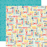 Little Man: Words 12x12 Patterned Paper