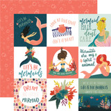 Mermaid Tales: 4x4 Journaling Cards 12x12 Patterned Paper