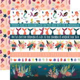 Mermaid Tales: Border Strips 12x12 Patterned Paper
