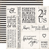 Wedding Bliss: Loving Words 12x12 Patterned Paper