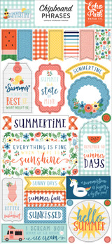 Summertime: 6x13 Chipboard Phrases