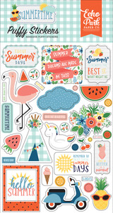 Summertime: Puffy Stickers