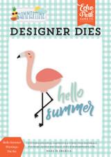 Summertime: Hello Summer Flamingo Die Set