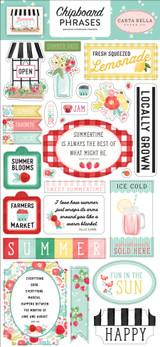 Summer Market: 6x13 Chipboard Phrases