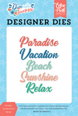 Dive Into Summer: Paradise Vacation Word Die Set
