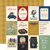 Scenic Route: 3x4 Journaling Cards 12x12 Patterned Paper