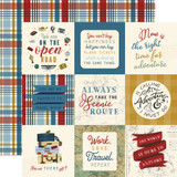 Scenic Route: 4x4 Journaling Cards 12x12 Patterned Paper