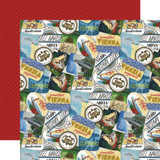 Scenic Route: Travel Stickers 12x12 Patterned Paper