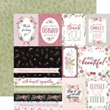 Flora No. 3: Elegant Journaling Cards 12x12 Patterned Paper
