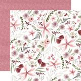 Flora No. 3: Elegant Large Floral 12x12 Patterned Paper