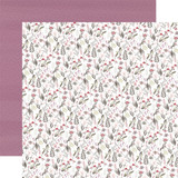 Flora No. 3: Elegant Small Floral 12x12 Patterned Paper