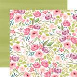 Flora No. 3: Bright Large Floral 12x12 Patterned Paper