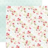 Flora No. 3: Subtle Small Floral 12x12 Patterned Paper