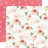 Flora No. 3: Subtle Large Floral 12x12 Patterned Paper