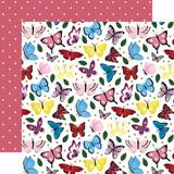 Alice In Wonderland No. 2: Butterflies 12x12 Patterned Paper