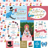 Alice In Wonderland No. 2: Multi Journaling Cards 12x12 Patterned Paper