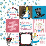 Alice In Wonderland No. 2: 4X4 Journaling Cards 12x12 Patterned Paper