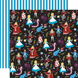 Alice In Wonderland No. 2: Tea Party 12x12 Patterned Paper