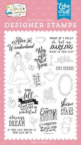 Alice In Wonderland No. 2: Always Dream Stamp Set