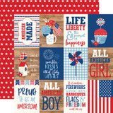 America: 3X4 Journaling Cards 12x12 Patterned Paper
