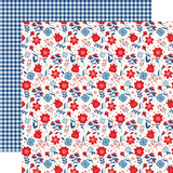 America: Liberty Floral 12x12 Patterned Paper