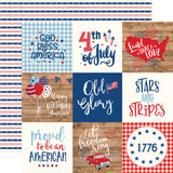 America: 4X4 Journaling Cards 12x12 Patterned Paper