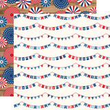 America: Independence Banners 12x12 Patterned Paper